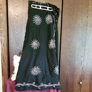 Wrap around Long black skirt